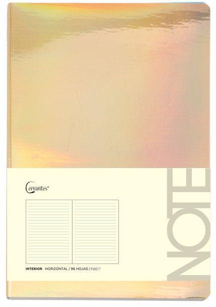 Cuaderno p/nota a6 dorado brillante 9.5 x14.5 cm (mp)