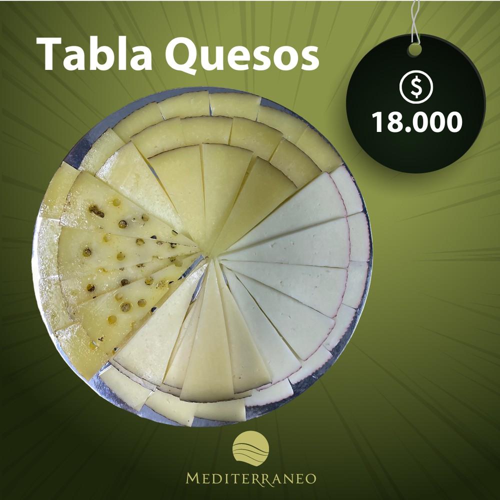 Tabla picoteo quesos