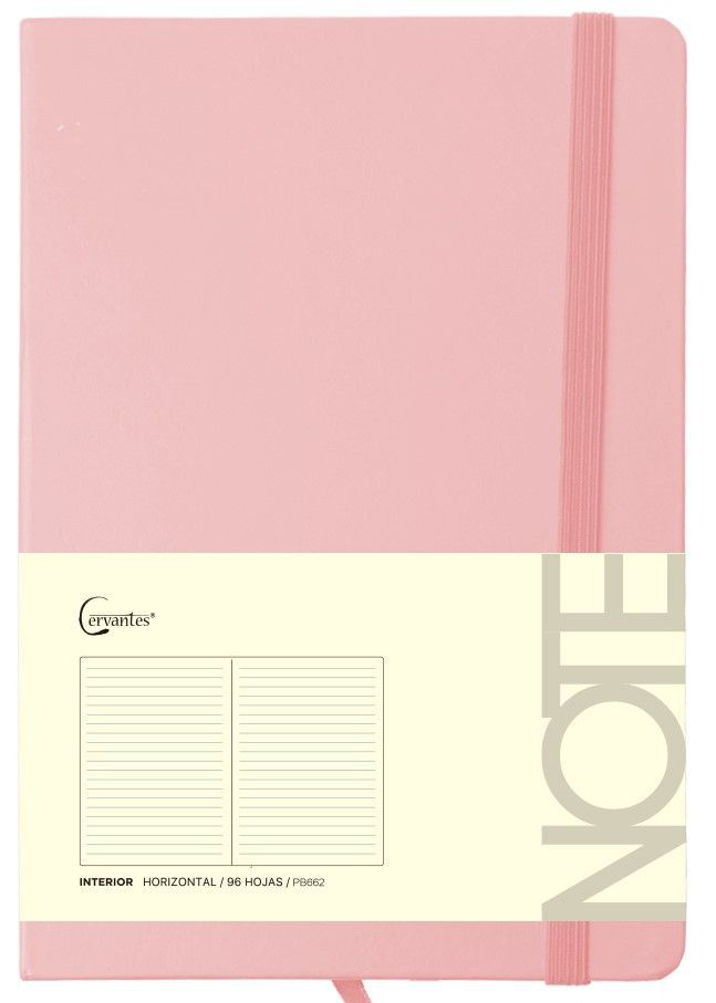 Cuaderno p/nota a5 c/elastico tono pastel 80gr x 96 hjs (mp)  variantes A5