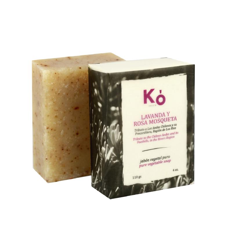 Jabón en barra lavanda rosa mosqueta Barra 110 g