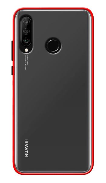 Matte hard cases red Huawei P30 Lite