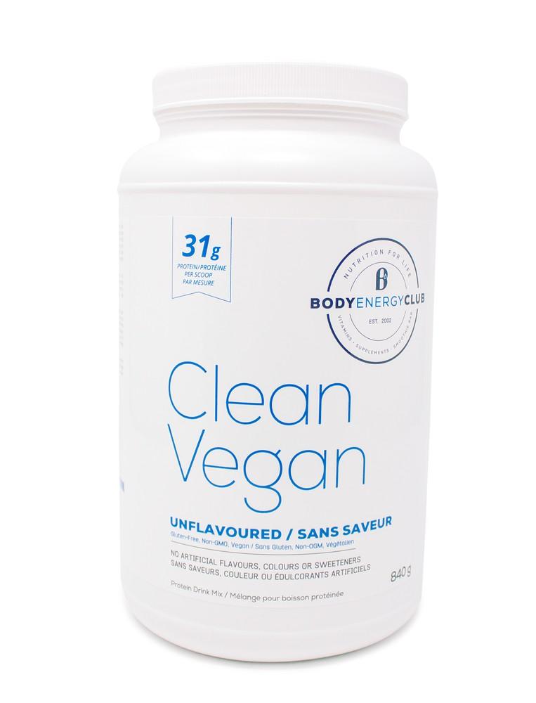 Body energy club clean vegan protein powder 840g