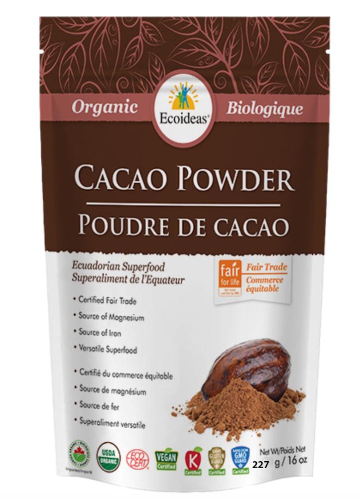 Ecoideas organic cacao powder 227 g