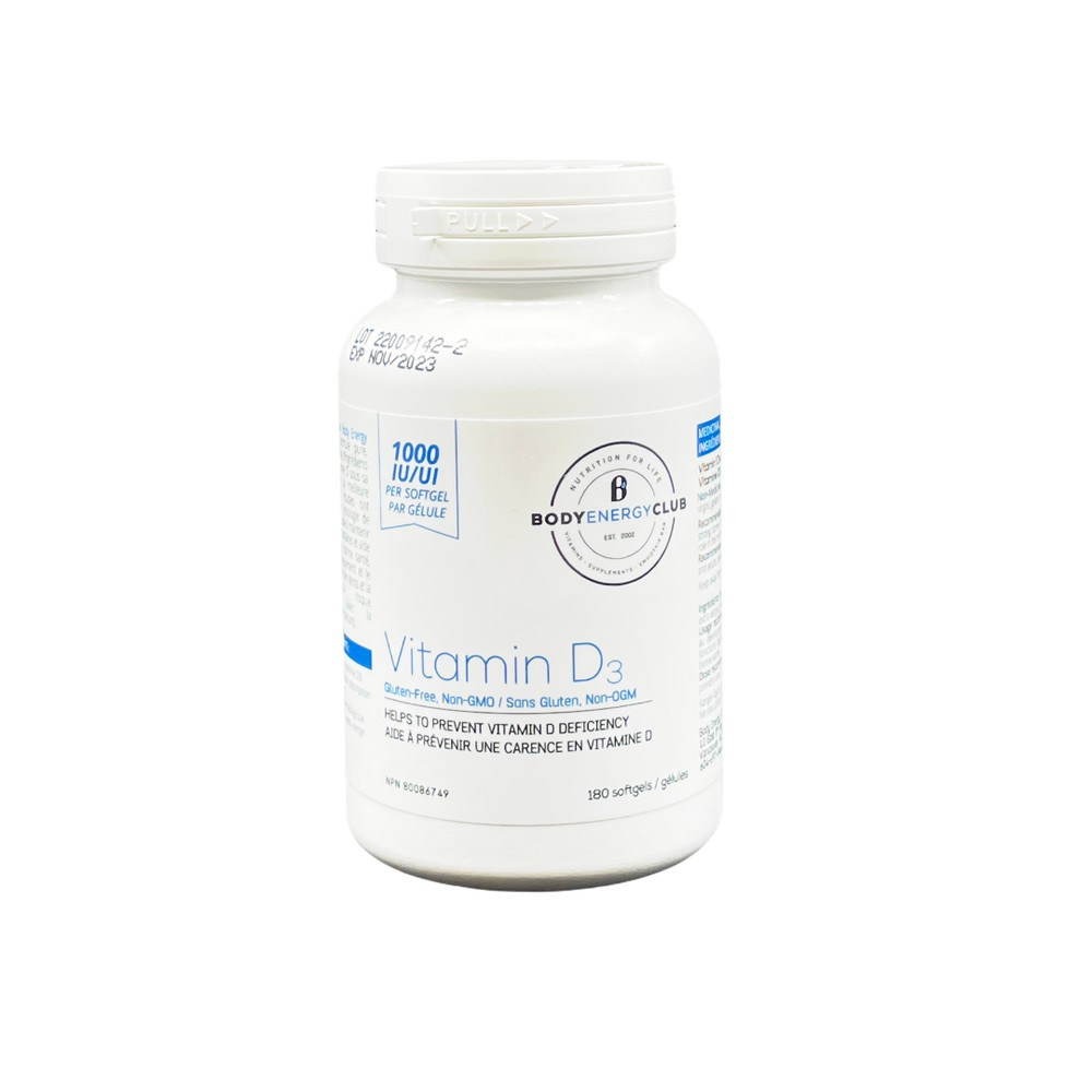 Body energy club vitamin d 1000iu