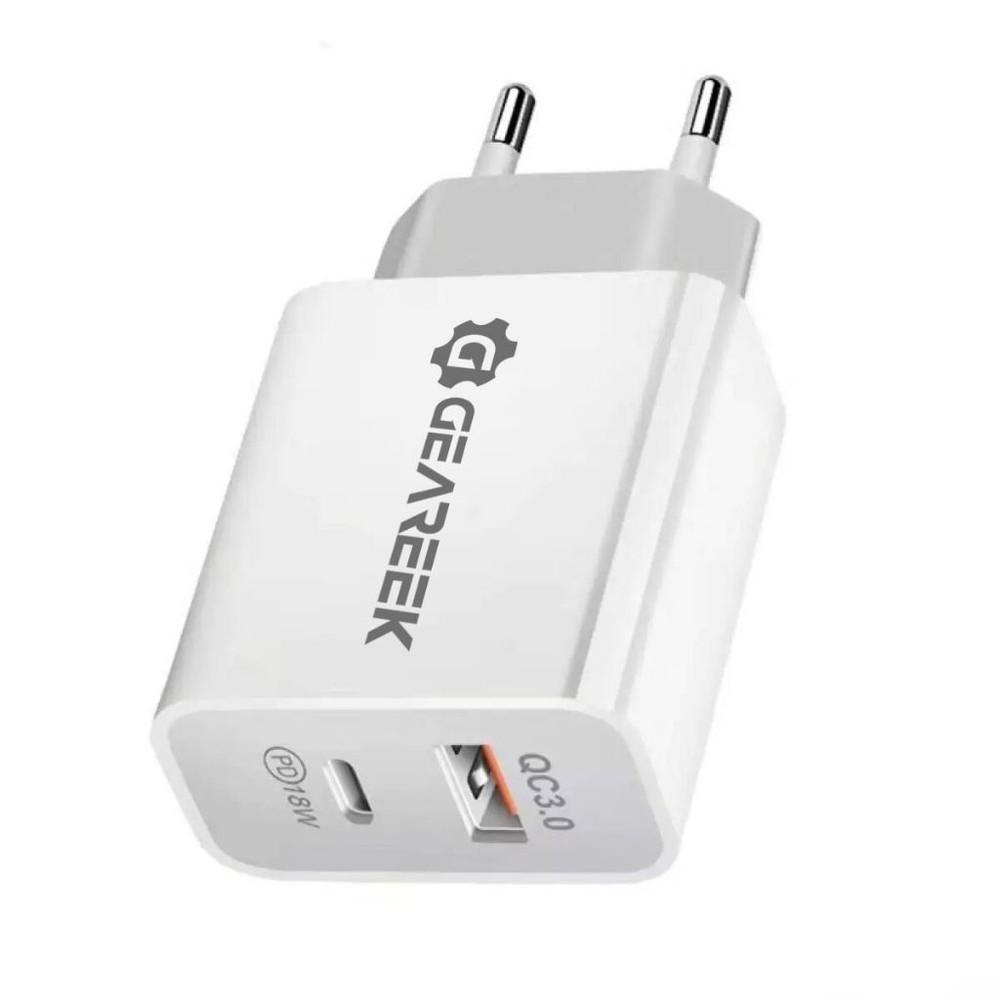 Cargador usb carga rápida 18w tipo c para iphone 12 xr 1 unidad