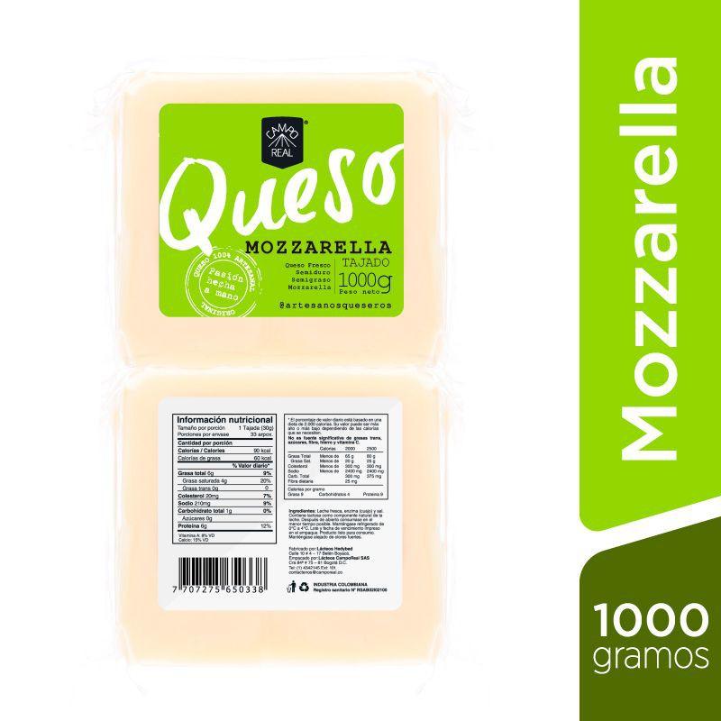 Mozzarella tajado x 1k Bolsa 1k