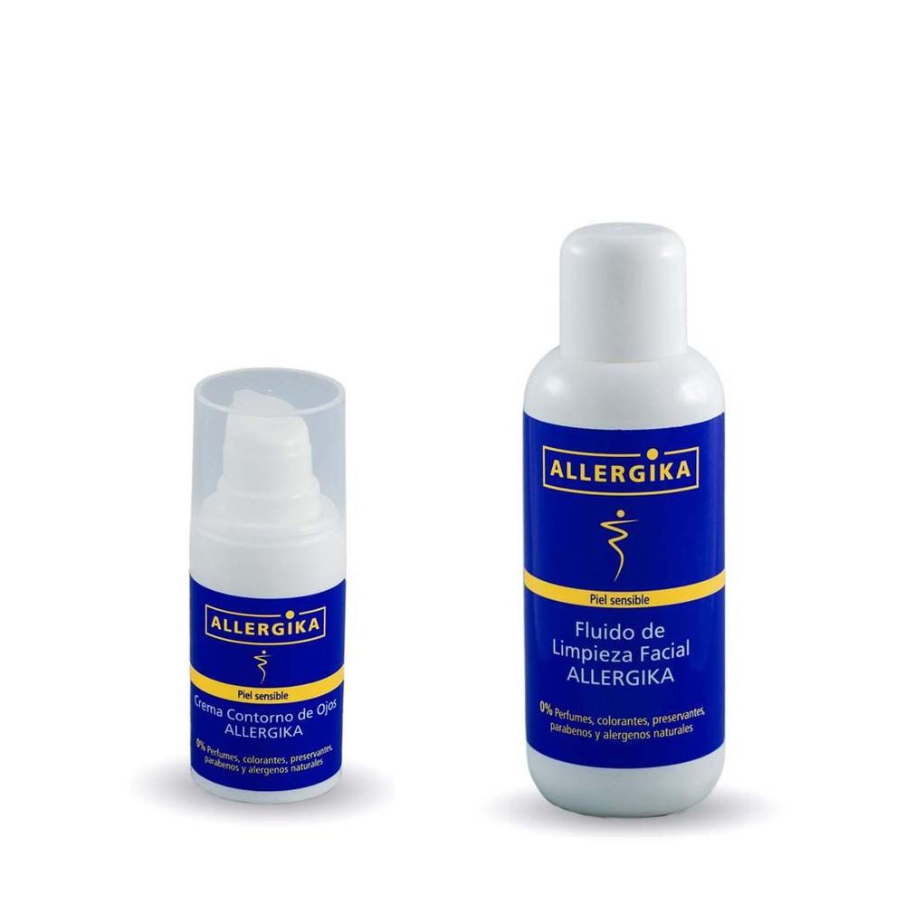 Pack reparación daño  por mascarillas  fluido de limpieza facial + crema contorno de ojos