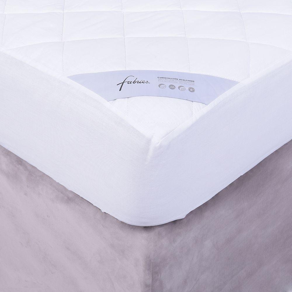 Cubre colchón básico con fuelle super king 200x200 cm + 36 cm de fuelle.