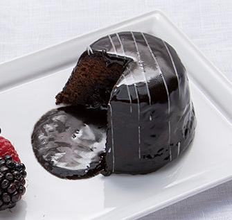 Bombolone volcán de chocolate