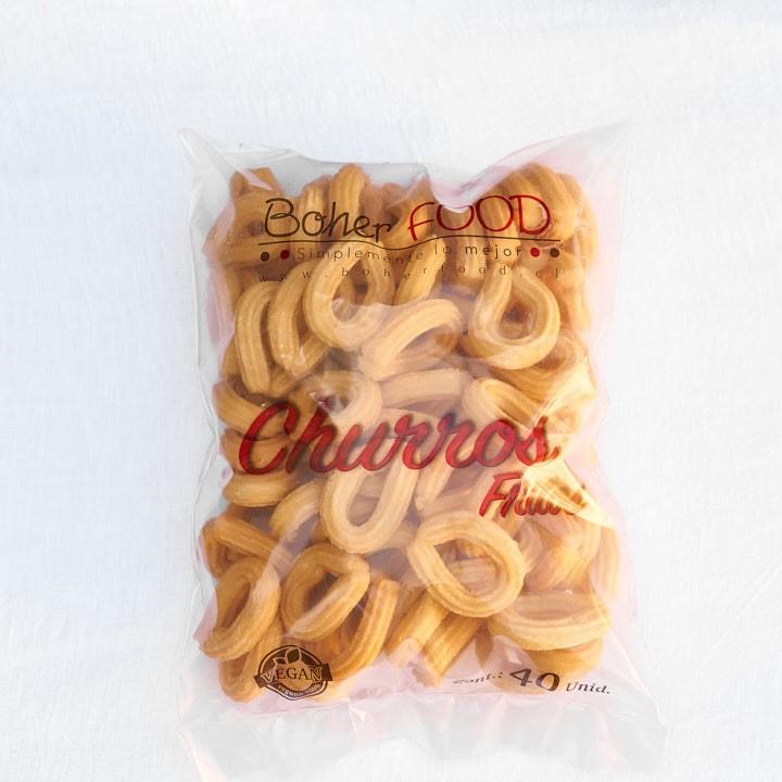 Churros mini lazos fritos congelados Bolsa de 80 ú.