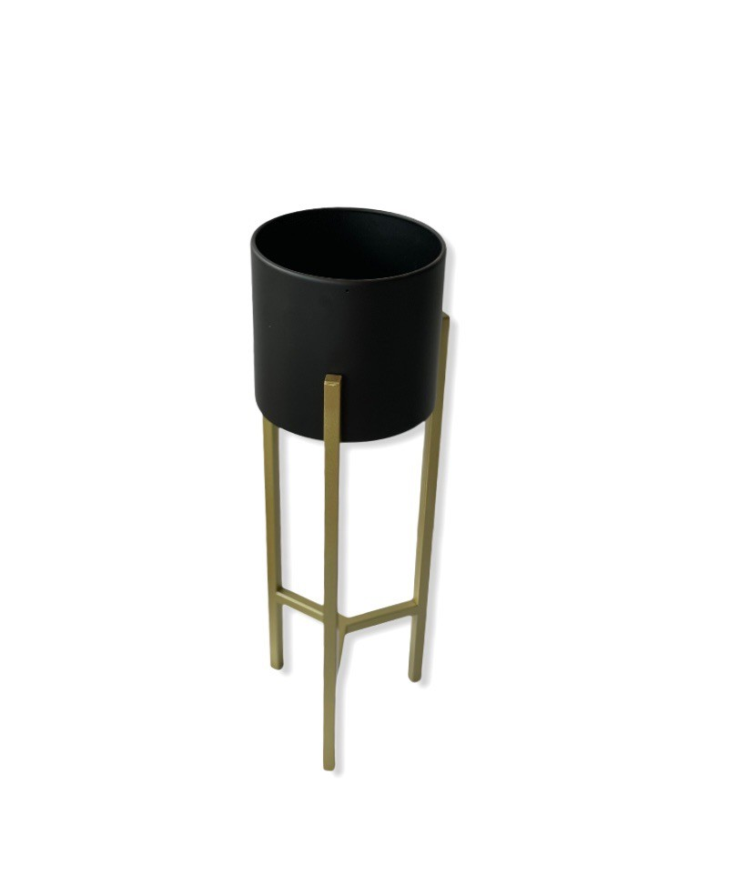 Pedestal mediano negro Pedestal 75 cm