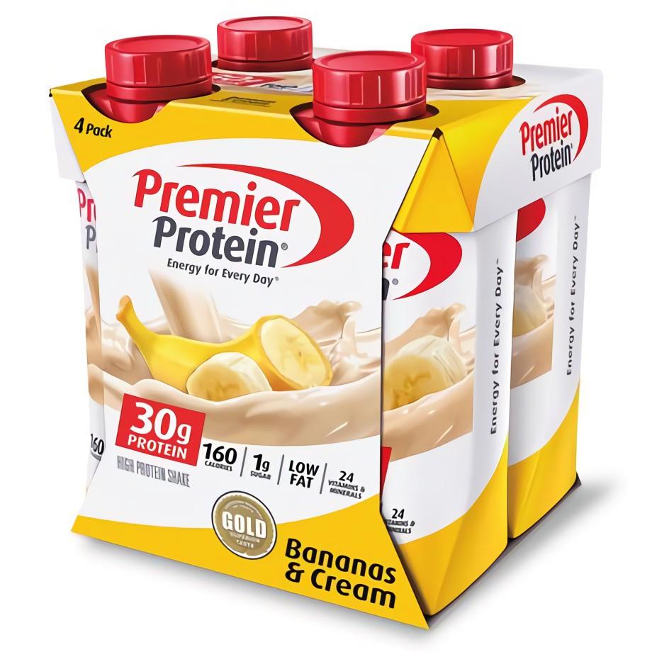 Bananas & cream protein shake