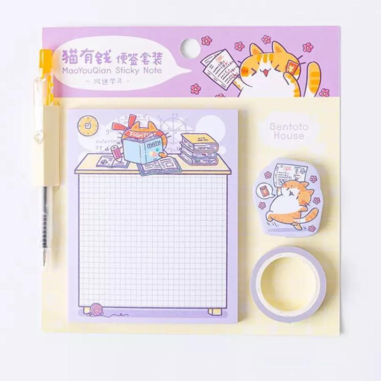 Sticky note gatito (purpura)