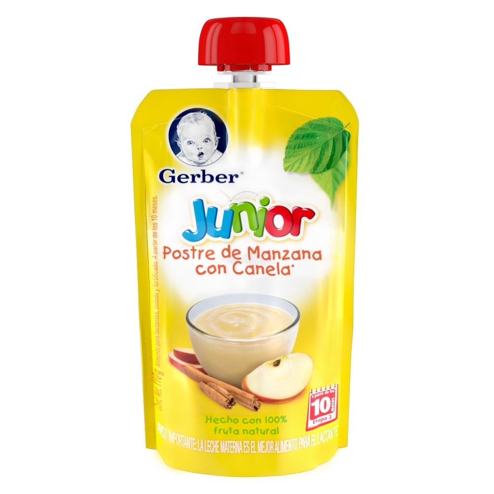 Postre sabor manzana canela junior etapa 3