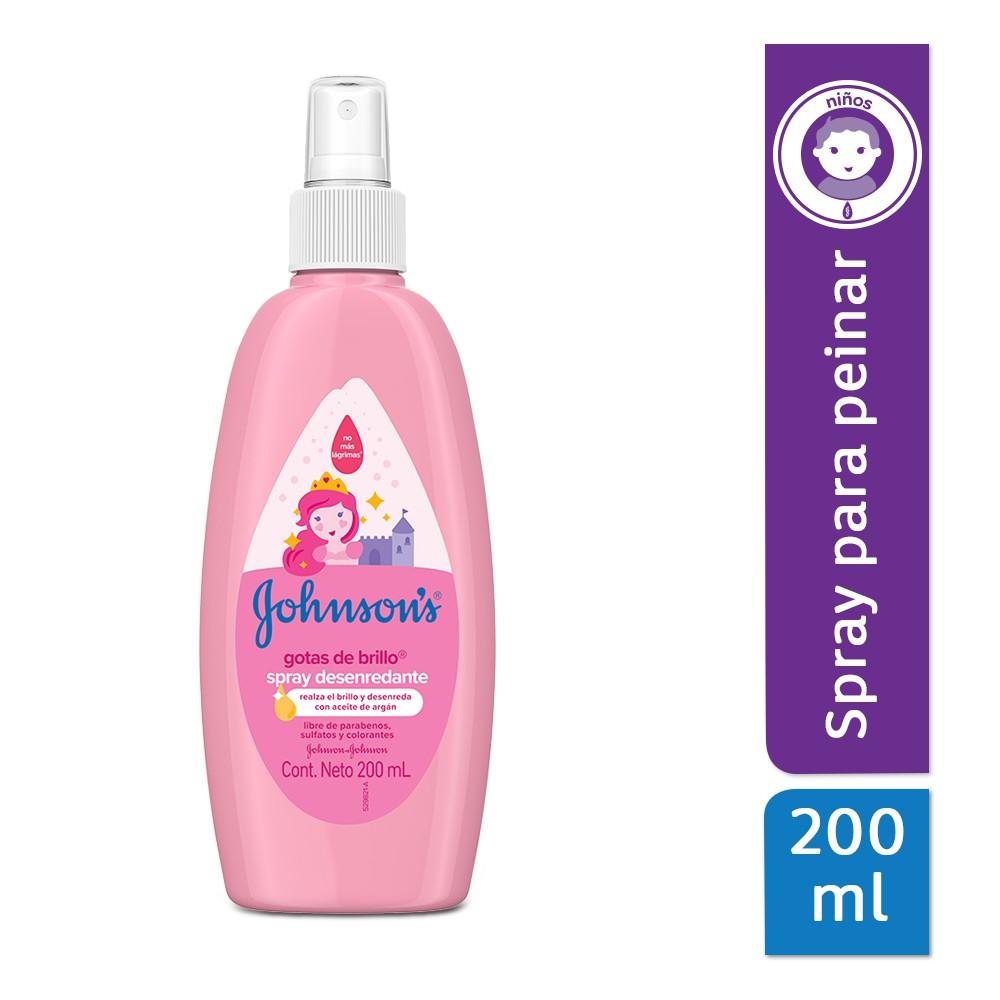 Spray para peinar johnson's gotas de brillo