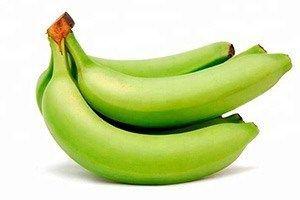 Plátano verde Precio por kg, unidad 500 g aprox.