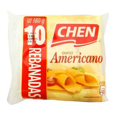Queso amarillo americano