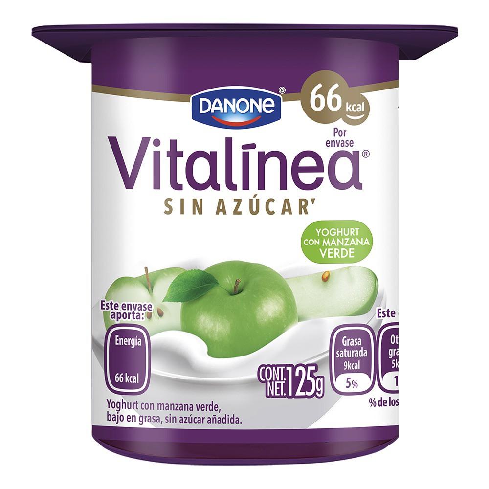 Yoghurt con manzana verde sin azúcar