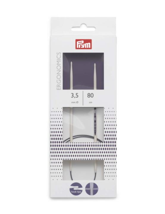 Palillos nº3,5 ergonomicos circulares 80 cm