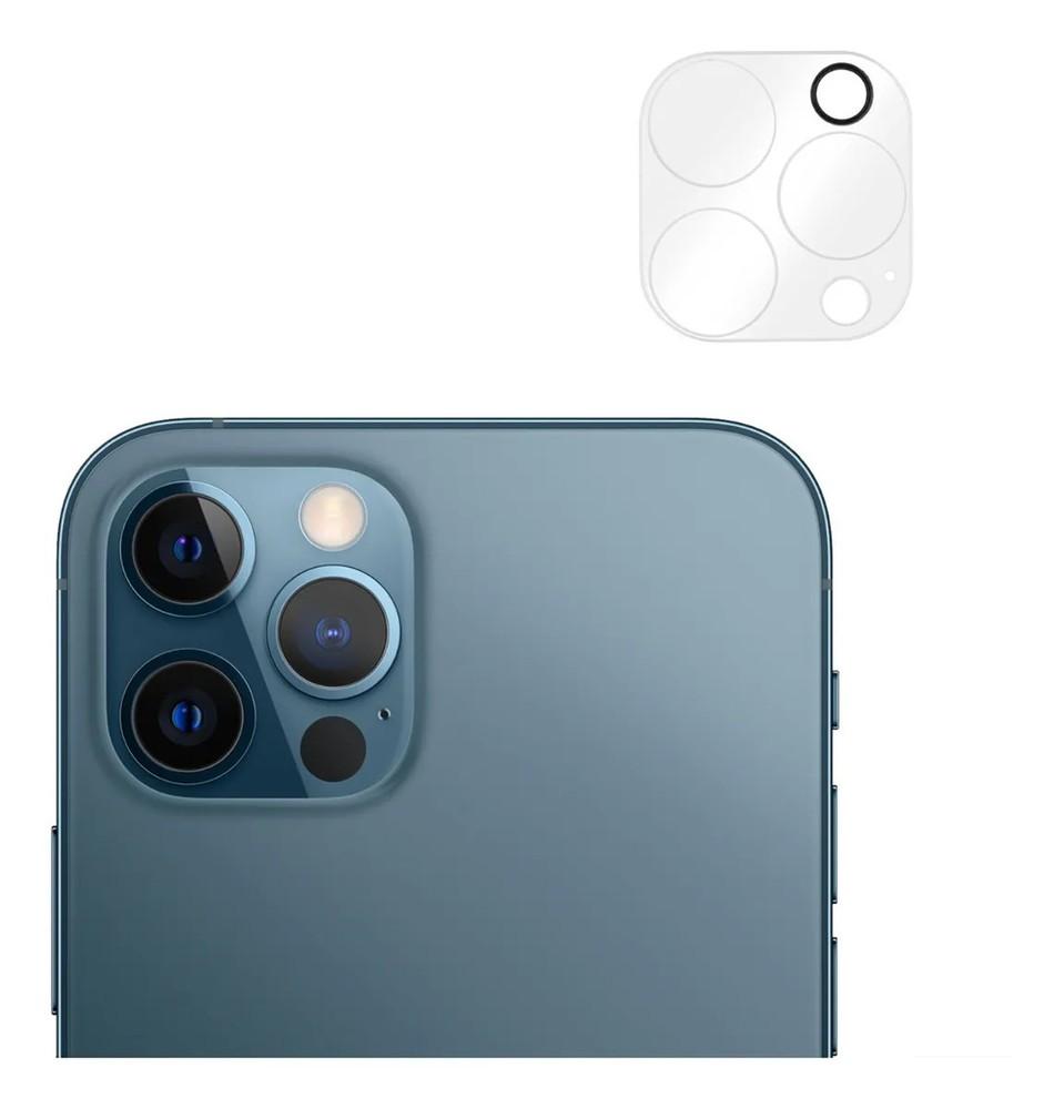Mica Camara iPhone 12 Pro Un Protector de vidrio para 3 Camaras, Kit de instalación