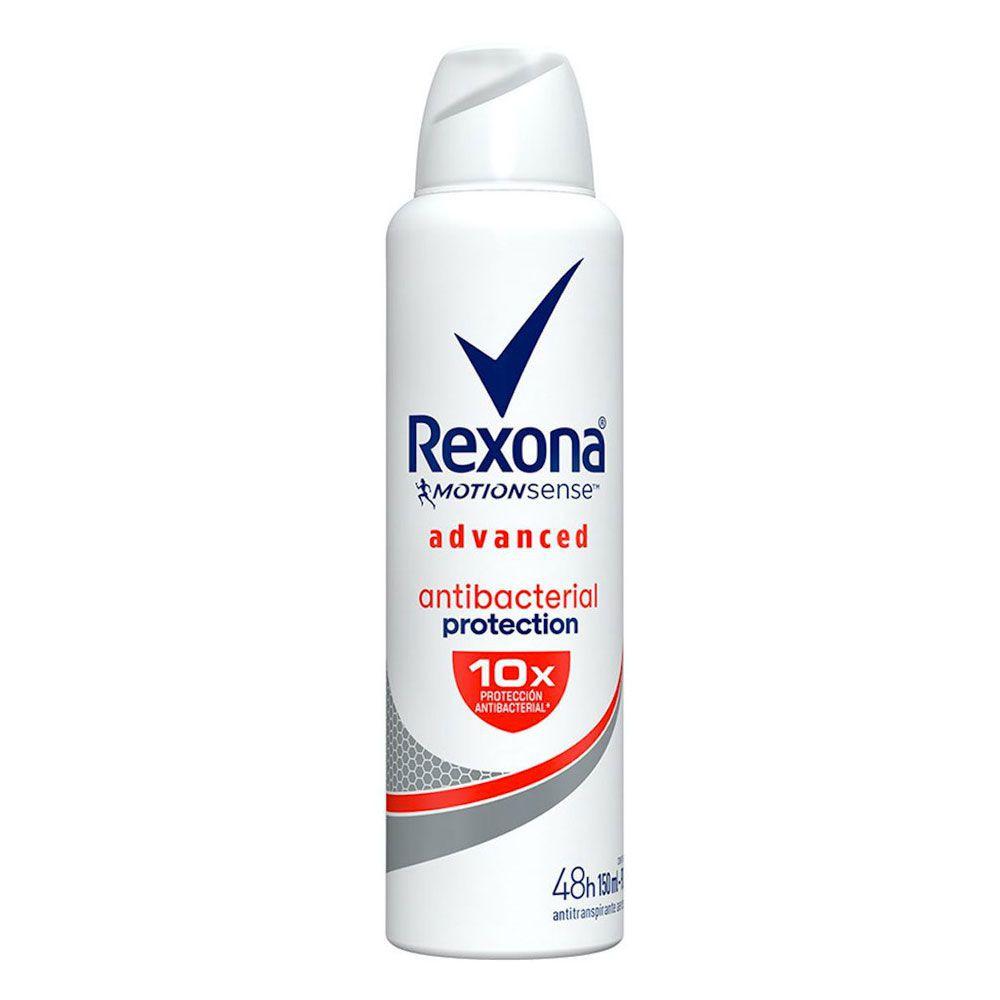 Antitranspirante Rexona motion sense antibacterial protection en aerosol para dama 90 gr