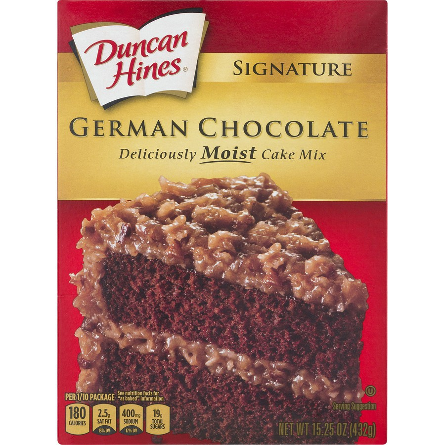 Signature Perfectly Moist German Chocolate Cake Mix Duncan Hines 15 3 Oz Delivery Cornershop By Uber