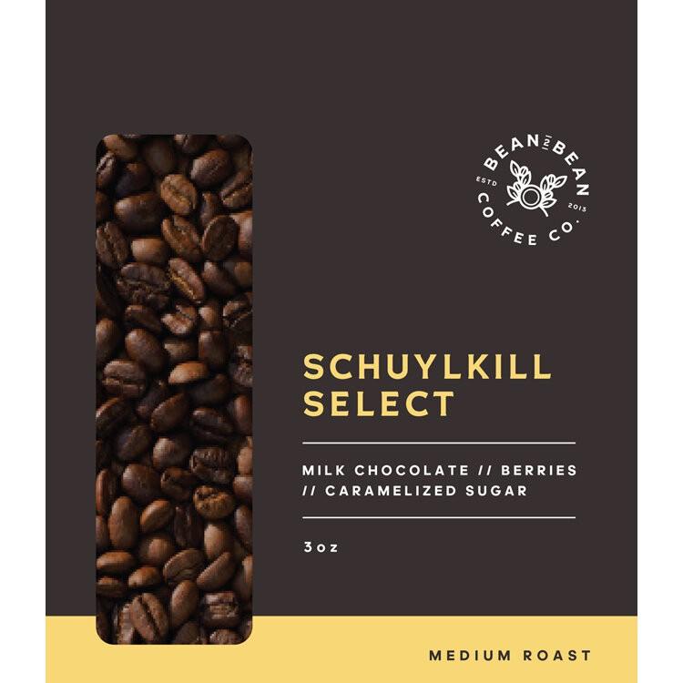 Schuylkill select whole bean 3OZ BAG