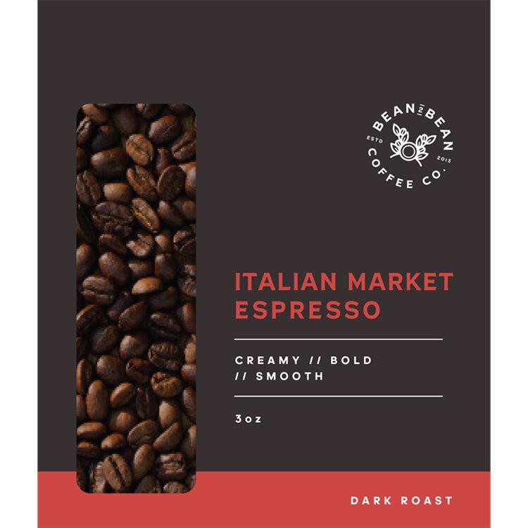 Italian market espresso medium fine 3OZ BAG