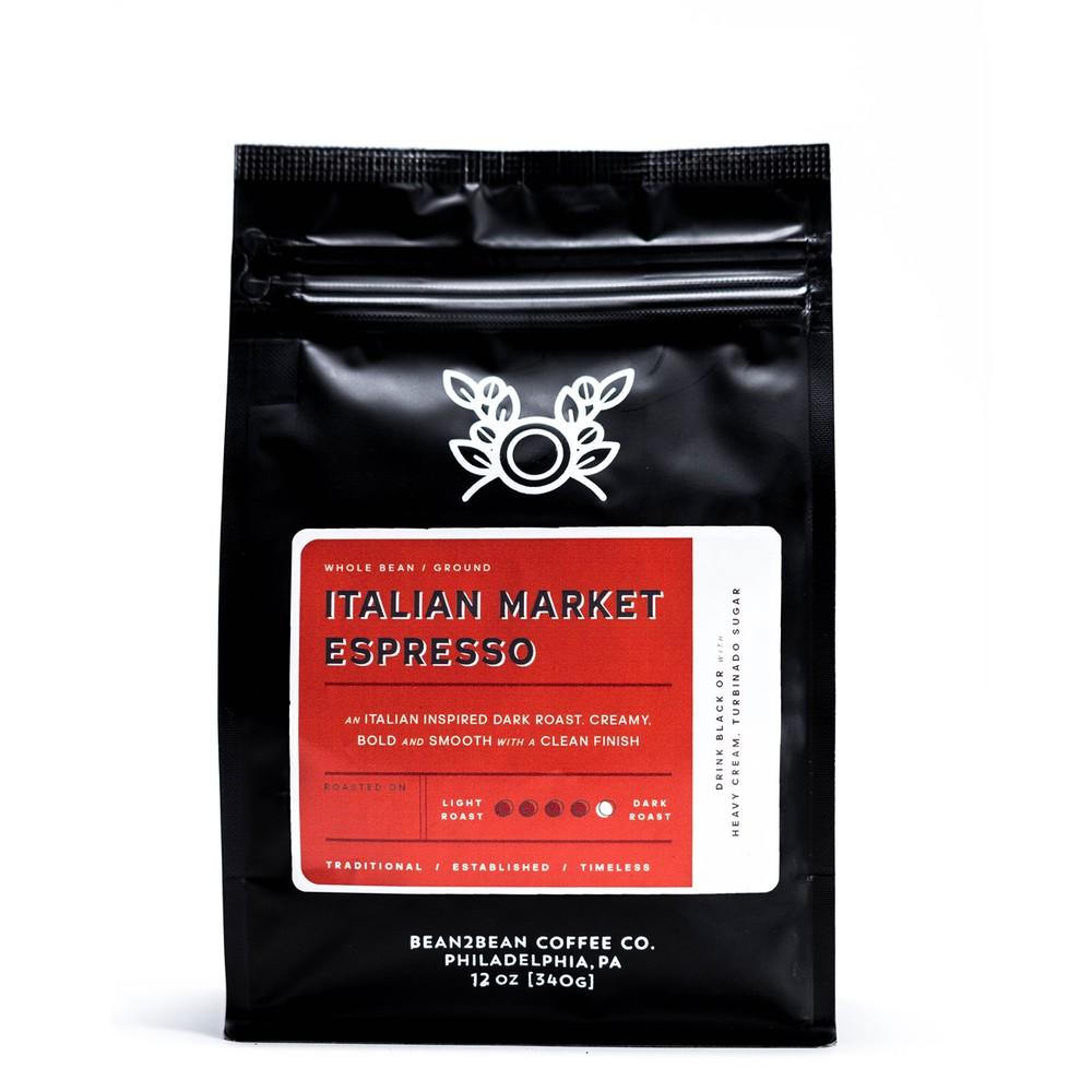 Italian market espresso whole bean 12OZ BAG
