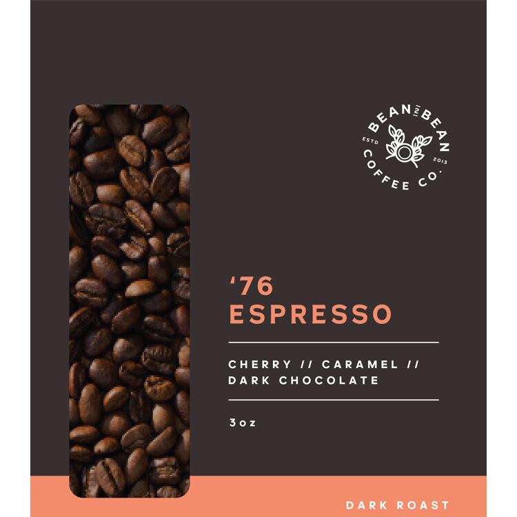 76 espresso whole bean 3OZ BAG