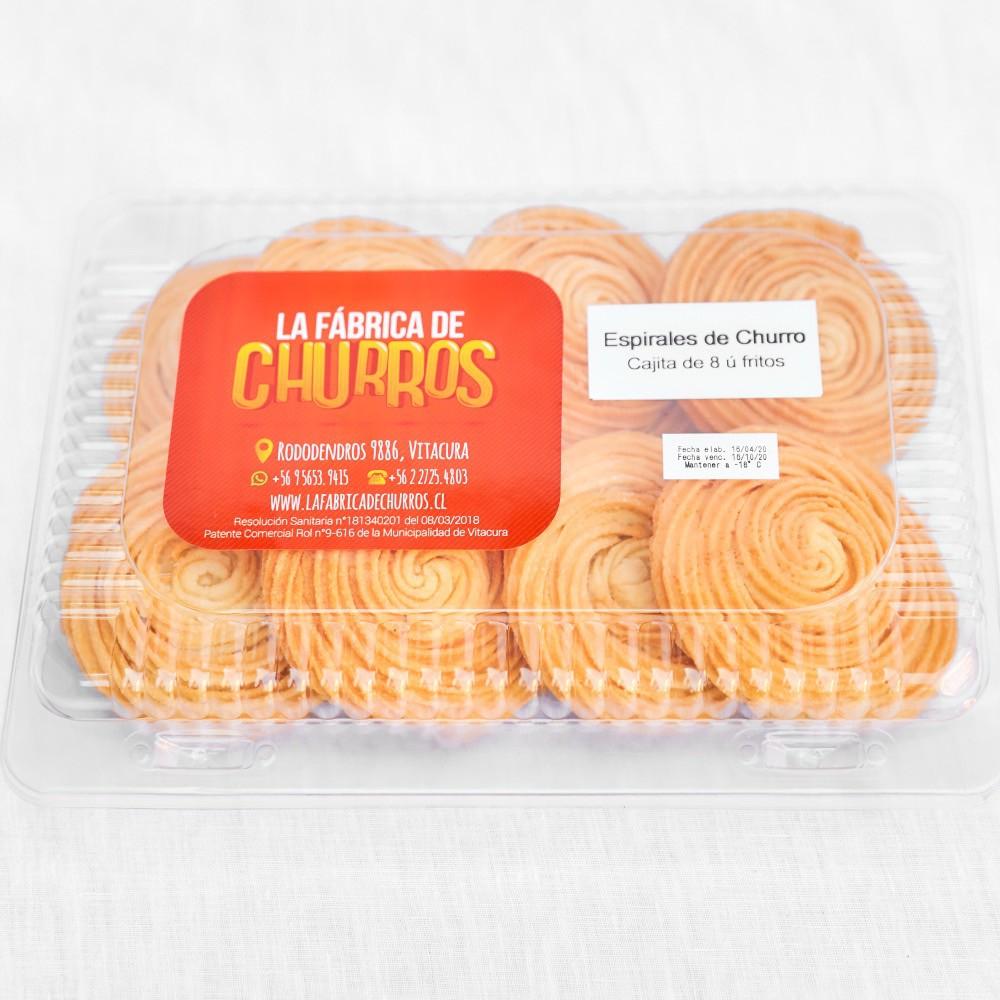 Espirales de churros fritos congelados