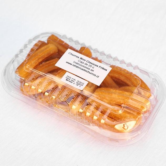 Churros mini fritos congelados Cajita de 20 ú.