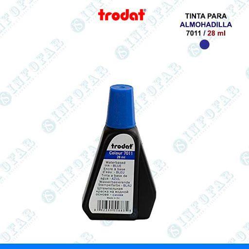 Tinta trodat para tampon 7011 azul 28ml cod. 10526-0