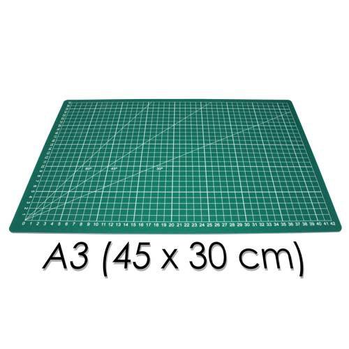 Base de corte a3 45x30cm con gráfica y ángulos