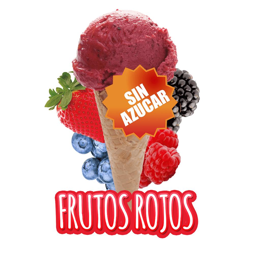 Helado de frutos rojos sin azúcar
