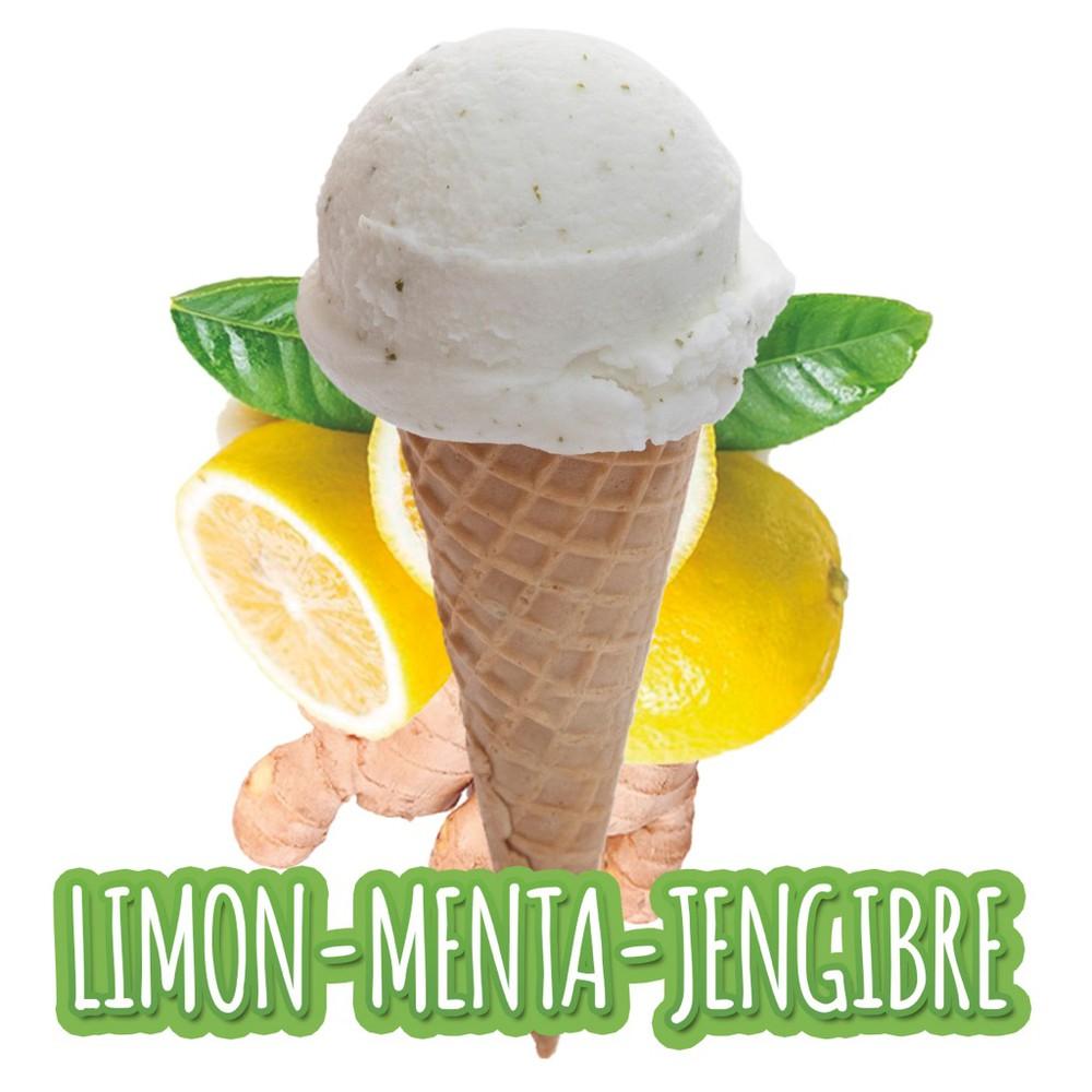 Helado de limón con menta y jengibre 1/2 L.