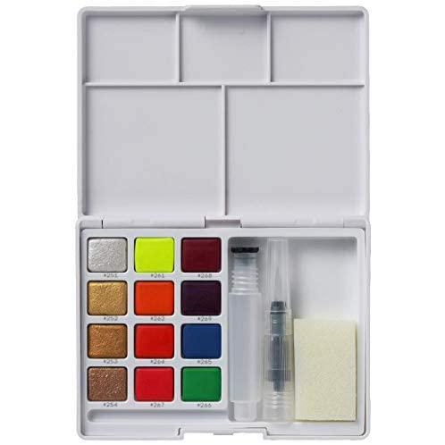 Acuarela colores flúor y metálicos