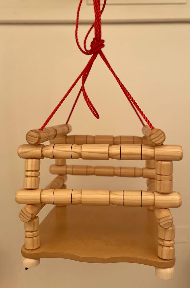 Columpio madera natural