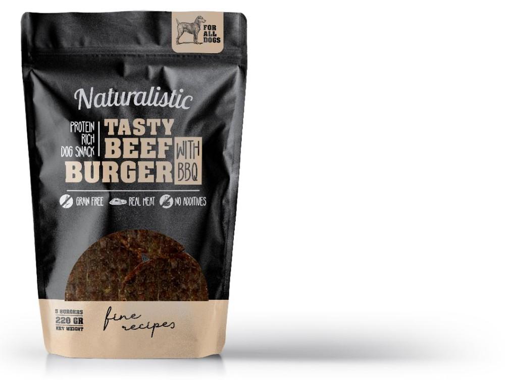 Tasty beef burger with bbq Bolsa de 220 gr