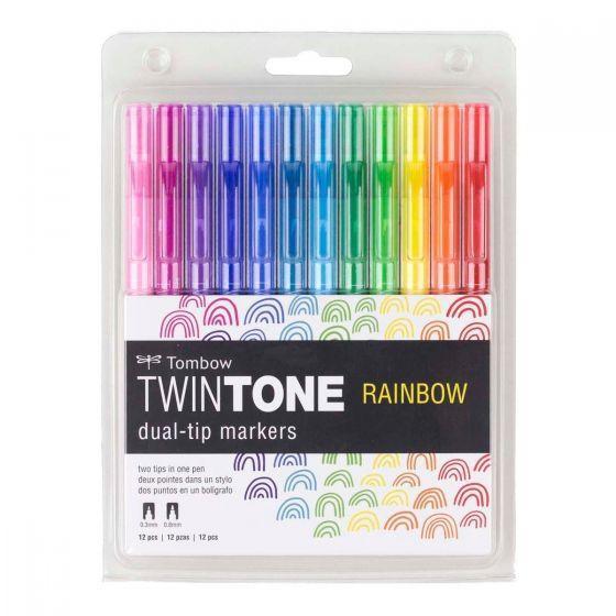 Set tombow twintone rainbow