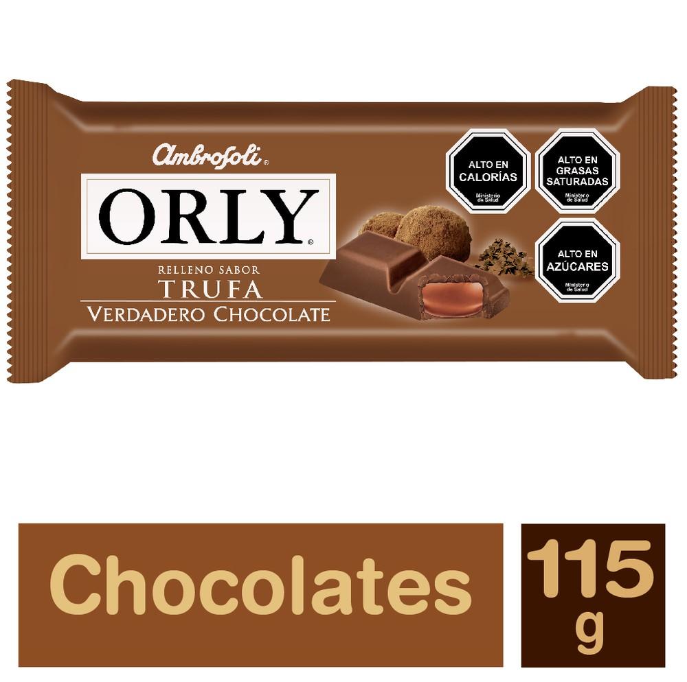 Chocolate Orly Trufa Barra 115 g