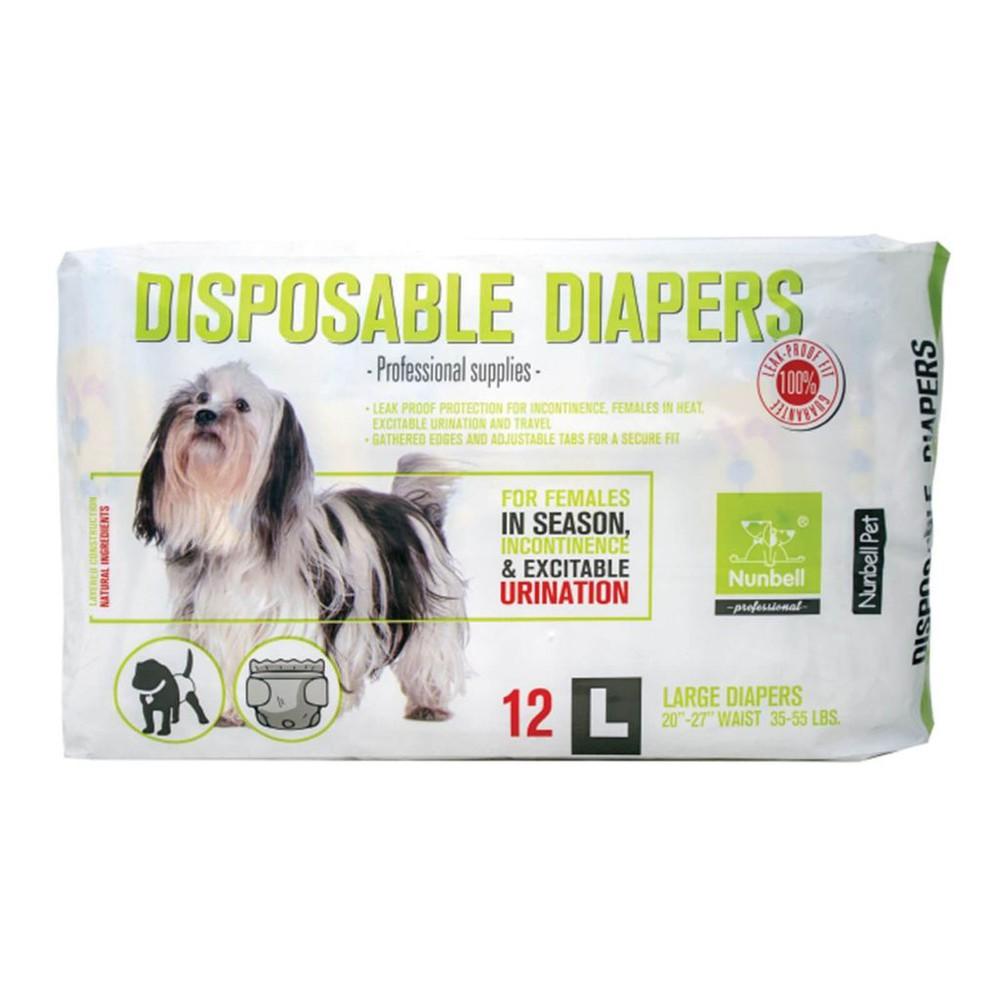 Pañales desechables para perro S 16 UNIDADES