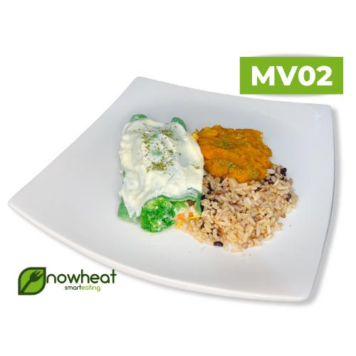 Mv02: panquecas, arroz 7 grãos, purê de moranga 400g