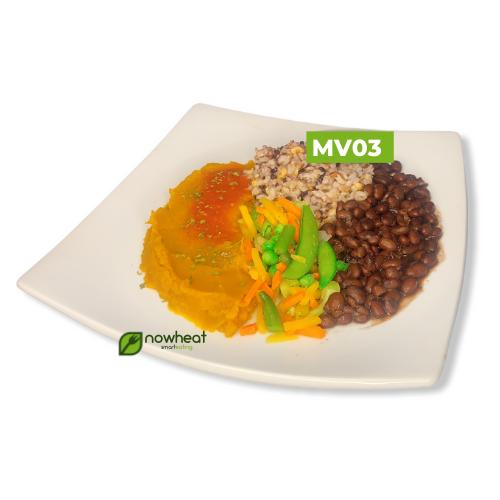 Mv03: feijão, arroz 7 grãos, moranga, vegetais 400g