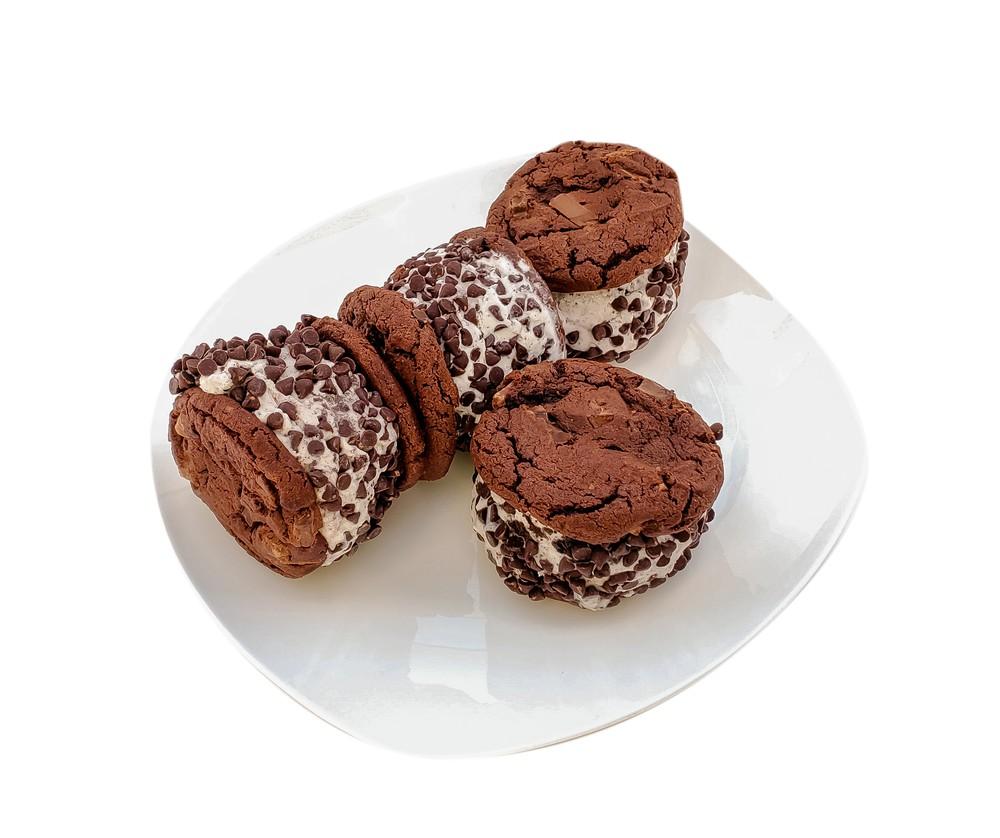 Cookie monster ice cream sandwiches