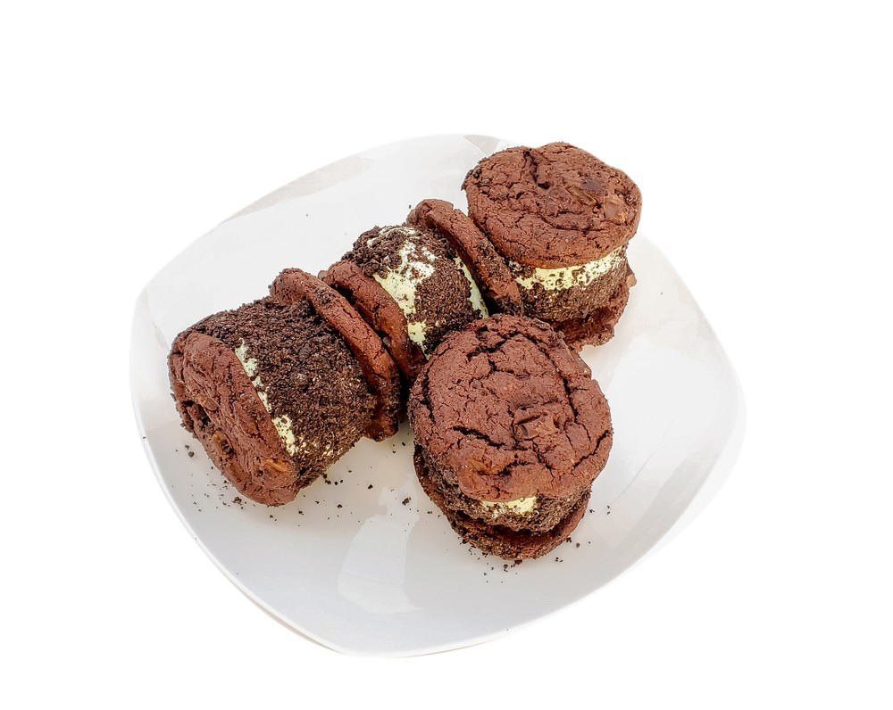 Girl scout cookie ice cream sandwiches