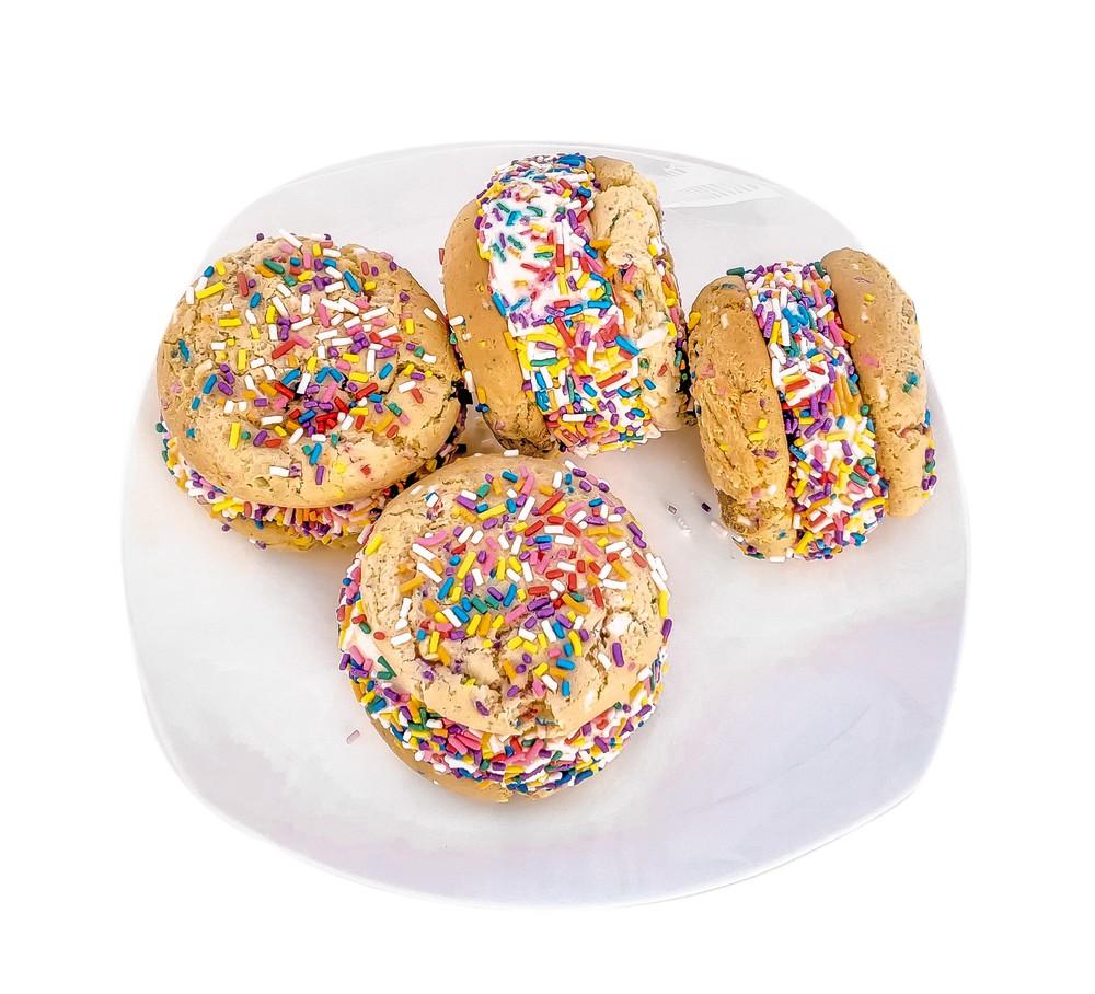 Birthday cake ice cream sandwiches 4-pack