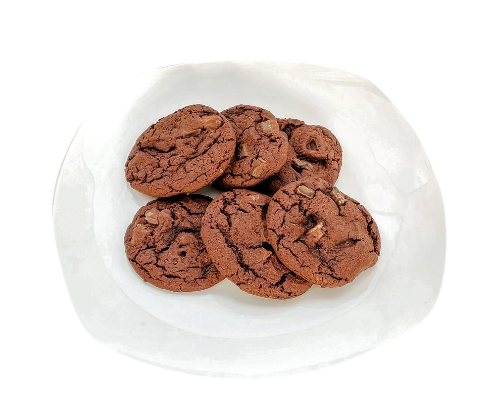 Vegan double chocolate cookies 6-Pack