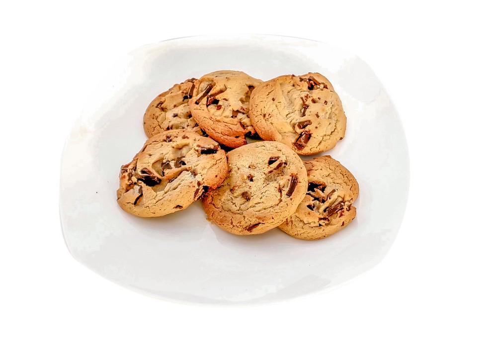Vegan chcolate chip cookies