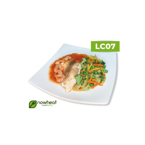 Lc07: filé de saint peter ao molho de camarão e legumes 300g